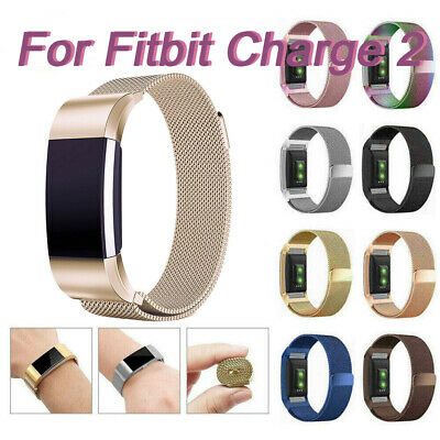 For Fitbit Charge 2 Band Stainless Steel Metal Milanese Strap Loop Wristband