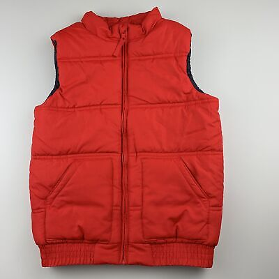 Girls,Boys size 8, Cotton On, red puffer vest / sleeveless jacket, EUC