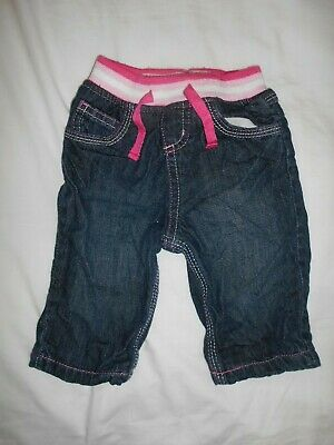 Baby Girls Debenhams Pink Blue Multi Check Cuffed Trousers Age 12-18 Months