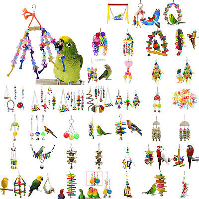 Pets Bird Toy Parrot Hanging Swing Rope Cage Toys Parakeet Cockatiel Budgie DIY