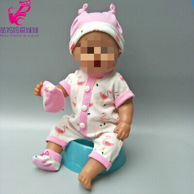 """Doll Clothes for 43CM Baby Born Doll Coat Cute Wearing Hat Rompers 17"""" inch"""