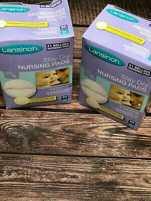 Lansinoh Nursing Pads, 60 count Stay Dry Disposable Breast Pads 2 Pack