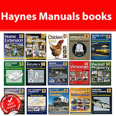 Haynes Manuals books The Bee, Caravan, Retirement, Home Extension, Apollo 11 NEW