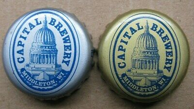2 Different Capital Brewery Middleton Wi Micro Craft No Dents Beer Bottle Caps