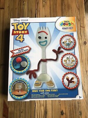 Disney Pixar Toy Story 4 Make Your Own Forky DIY Kit Action Figure Kids Fun