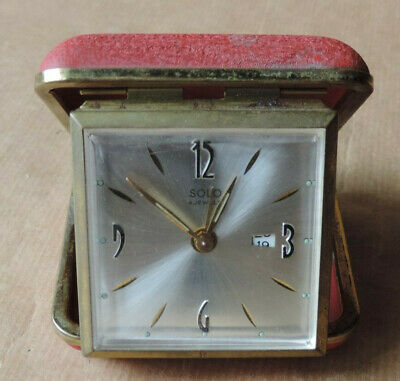 Antique Alarm Travelling Mechanical Solo 4 Jewels Working Retro Vintage