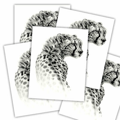 Leopard fake tattoo's | 5 temporary tattoo sheets