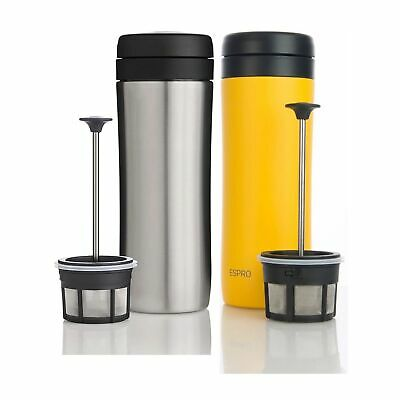 Espro French Press Sunshine Yellow/Brushed Stainless & Coffee Filter Insulated