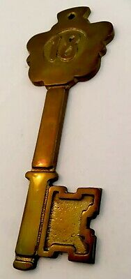 Large Wall Plaque Solid Heavy Hot Cast Brass 18th Birthday Key / Good Luck Gift