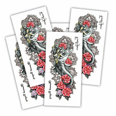 Mermaid mandala fake tattoo's | 5 temporary tattoo sheets