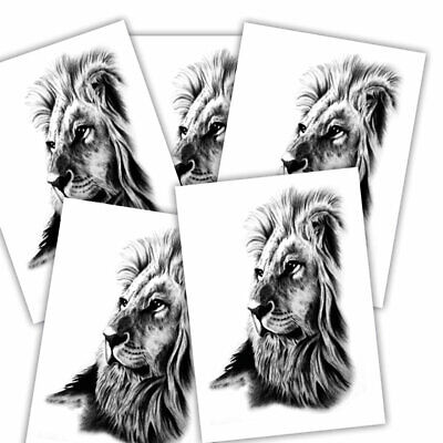 Lion fake tattoo's | 5 temporary tattoo sheets