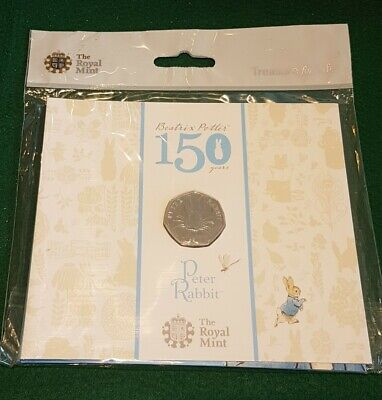 UK Coin - Fifty Pence - 50p - 2016 - Peter Rabbit - BUNC - [b723]