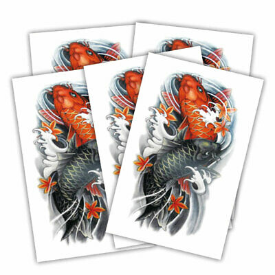 Koi Fish fake tattoo's | 5 temporary tattoo sheets