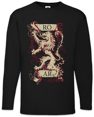 Roar Lion Long Sleeve T-Shirt Game of House Lannister Sign Symbol Logo Thrones