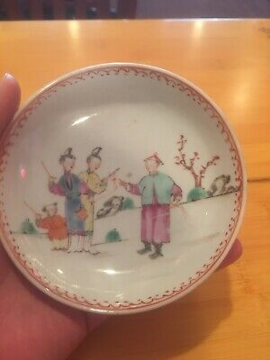 Exquisite SMALL ANTIQUE CHINESE QING DYNASTY PORCELAIN PLATE 18c Or Earlier 19c