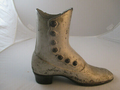 Antique Cast Iron Button Down Victorian Boot.
