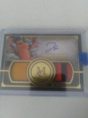 2019 Topps Museum Collection George Springer Dual Patch Auto 21/25