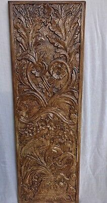 A Brand New Royal Style Wall Hanging Panel Flower Vase Carved 100% Mango Wood