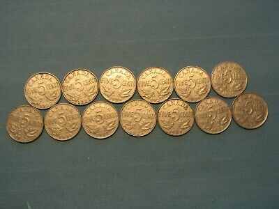 1922-1936 canada 5 cent George V - (one of each date excluding 1925 and 1926)