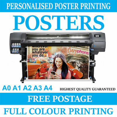 POSTER PRINTING SERVICE Print A0 A1 A2 A3 A4 posters Personalised Photo prints