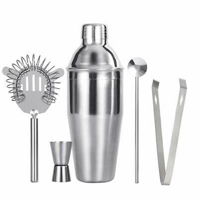 Stainless Steel Cocktail Shaker Mixer Drink Bartender Martini Barware Tools