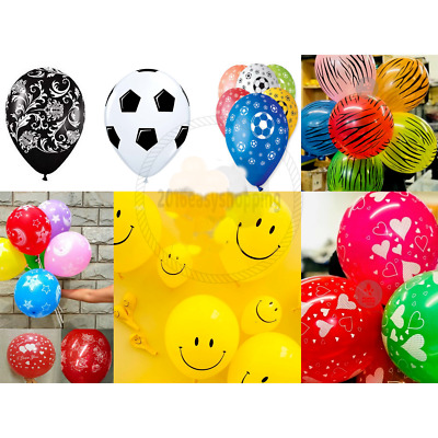20X Printed Balloons Ballons Party Wedding decorations baloons Birthday Latex 20