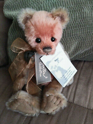 """Charlie Bears """"Pomegranate"""" 2010 UK Exclusive Isabelle Lee Mohair bear w/tags"""