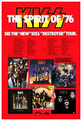 "KISS ""Spirit Of '76"" Custom Destroyer Concert Tour Poster - Rock Band Music"