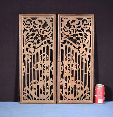 *French Antique Solid Bronze Panels/Grilles Fireplace Doors Salvage