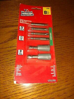 2 Pieces Vermont American 15074 Slotted Power Screwdriving Bit #12-14