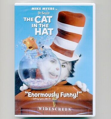 Dr. Seuss' The Cat In The Hat mint DVD movie Mike Myers, Alec Baldwin, D Fanning
