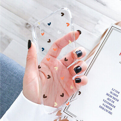 Cute Clear Silicone Soft Slim Case Cover For iPhone 11 Pro Max XS XR 8 7 6s Plus