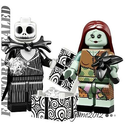 LEGO 71024 Disney 2 MINIFIGURES JACK SKELLINGTON SALLY NIGHTMARE IN HAND SEALED
