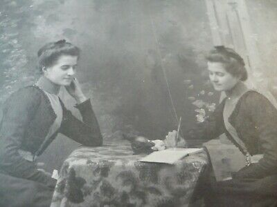 Antique Cabinet Photo 2 Pretty Young Ladies Girls