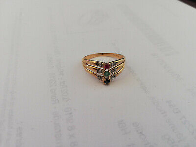 bague or saphir rubis emeraude