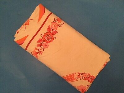 """Vintage Printed Tablecloth  -  Flowers """"Fallani And Cohn"""""""