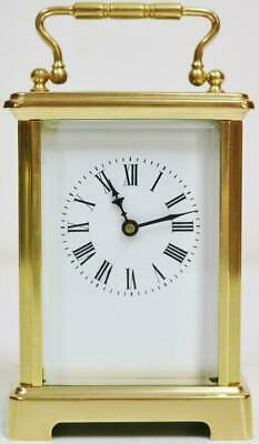 Antique French Classic Anglais Carriage Clock Brass 8 Day Platform Escapement