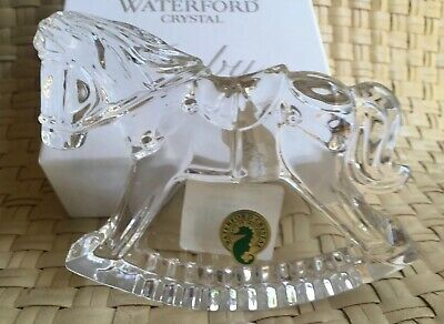 Waterford Crystal Baby Engravable Crystal Rocking Horse Nib 99.00
