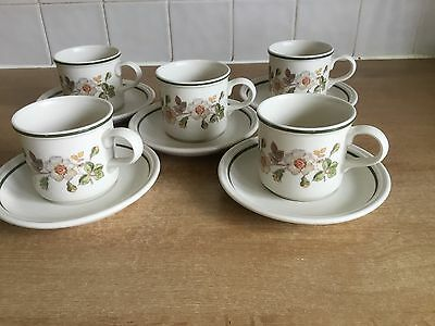 Marks & Spencer - St Michael Autumn Leaves - 5 X Cups and Saucers