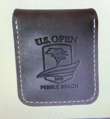 """2019 Us Open Pebble Beach """"Coin Mark And Brown Leather Tote"""""""