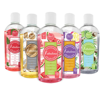 Fabulosa Concentrated Disinfectant 220ml - Choose Your Scent