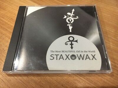 Prince Staxowax The Most Beautiful Girl In the World CD Single NPG Records