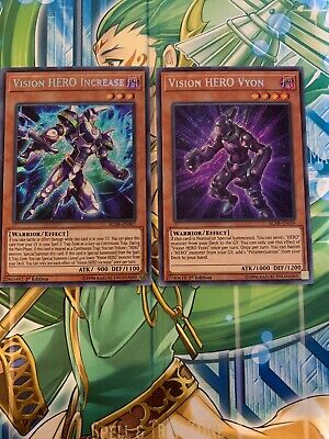 Vision HERO Increase and Vision Hero Vyon Secret Rare - 1st Edition M/NM