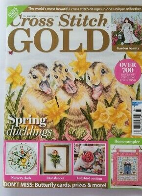 Cross Stitch Gold 72 May/June 2019 Spring Ducklings Back Issue Magazine