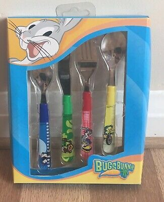 Loony Tunes Bugs Bunny Child's Cutlery Set Taz Sylvester Tweety-Pie New & Boxed