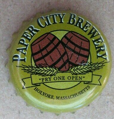 Paper City Brewery Holyoke Ma No Dents  Micro Craft Used Beer Bottle Cap