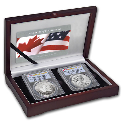 2019 Pride of Two Nations PCGS PR 70 DCAM Royal Canadian Mint Set