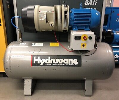 Hydrovane 504 Receiver Mounted Rotary Vane Compressor 4.0Kw! 20cfm! Great Order!