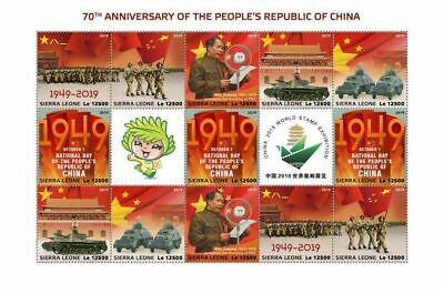 Z08 IMPERF SRL190522a SIERRA LEONE 2019 People Republic of China MNH
