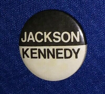 Henry Scoop Jackson '72 Hopeful Ted Kennedy Vp Liberal Political Pinback Button